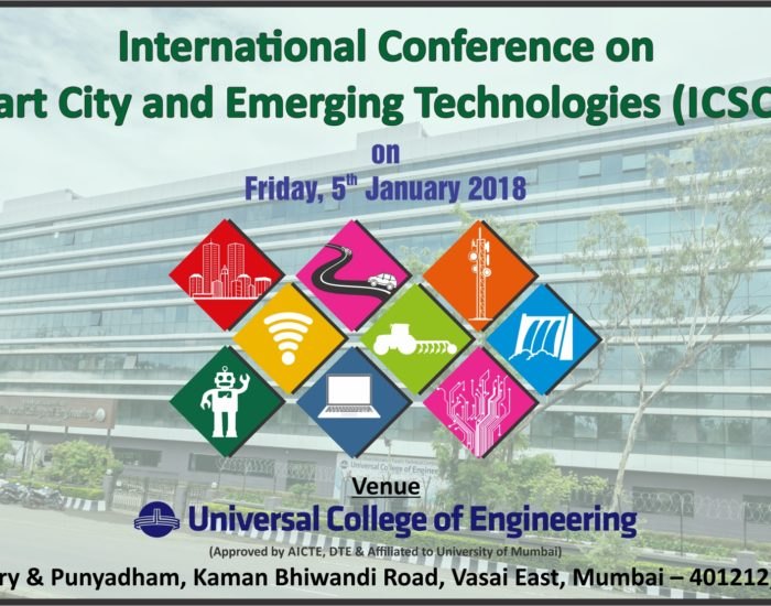IEEE conference on smart city, organised by Universal College of Engineering